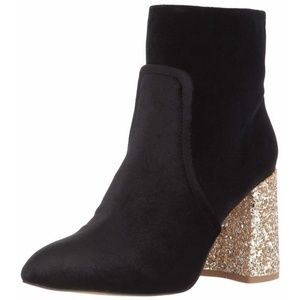 Betsey Johnson Kacey Black Velvet Boots